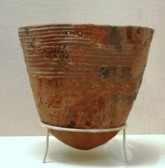 Jomon Rope pottery from 10,000 to 8,000 B.C.