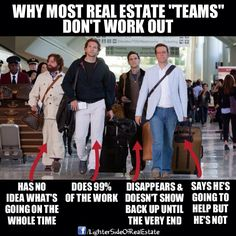 To #Team or Not to Team. That is the question! #RealEstate trend of the moment in #BayArea. Laugh of the Day re-pinned by http://AccessRealEstateSanCarlos.com from http://www.pinterest.com/weknowurbanphx/  Google Search | Real Estate Humor