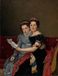 Portrait of the Sisters Zenaide and Charlotte Bonaparte by Jacques-Louis David, French, 1821, Oil on canvas, 86.PA.740 - in the collection of the J.Paul Getty Museum