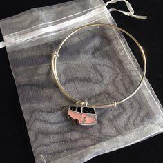 Campervan charm bangle, silver plated adjustable bangle, charm bracelet , gift for women, teenager gift, gift for her, birthday gift