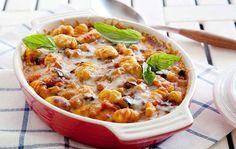 Gratin de gnocchis aux tomates et origan Weight Watchers, un délicieux plat à l'italienne, facile et simple à faire pour accompagner vos viandes.