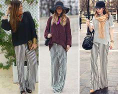 ZARA is the new black: El pantalón pijama de rayas verticales en blanco y negro