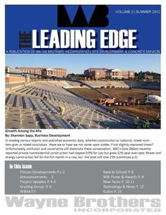 Check out WBI's newsletter, the Leading Edge, for project, HR and company updates!