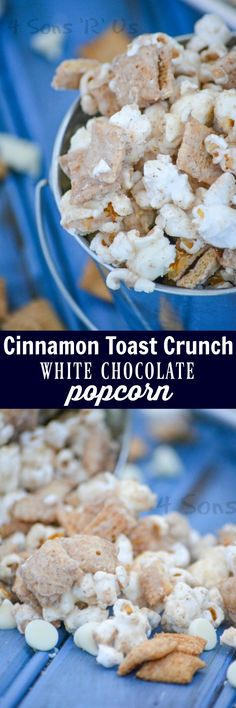 Calling all cinnamon lovers– this Cinnamon Toast Crunch White Chocolate Popcorn has everything your heart desires. A little bit breakfast, a little bit dessert, it's the perfect snack mix to sate your sweet tooth.