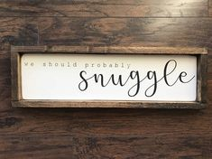Hand stenciled wood sign. Measuring approximately 8x24x1.5 Background is a slightly distressed white, words are stenciled black and frame is a dark walnut stain. This farmhouse style sign is designed to sit on a shelf/countertop/table but you could easily add a sawtooth hanger to the