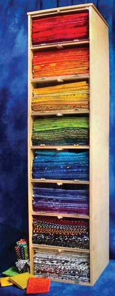 Craft room storage organisation fat quarters Ideas for 2019 Storage Bin Shelves, Plywood Storage, Fabric Storage, Storage Units, Storage Ideas, Sewing Room Organization, Craft Room Storage, Keepsake Quilting, Quilting Room