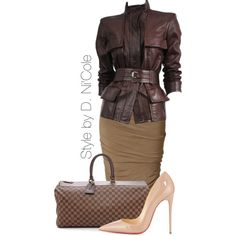 A fashion look from January 2015 featuring Tom Ford jackets, Donna Karan skirts and Christian Louboutin pumps. Browse and shop related looks.