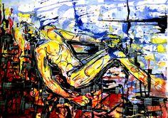 """Defeated""  by Michal J. Gabriel Rodak  If you like my work follow me on:  facebook:    https://www.facebook.com/pages/Gabriel-Creart/338461852942492 Twitter:     https://twitter.com/MichalGabrielR Instagram:   http://instagram.com/gabrielcreart Deviantart:  http://michalgabrel.deviantart.com/ pinteres:    http://www.pinterest.com/gabrielcreart/    #art  #body  #man  #marat  #watercolor  #colors  #artist  #modern  #amazing  #suffering"