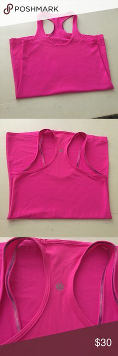💕LULU LEMON💕 Hot Pink lulu lemon razor back top. In great condition!! lululemon athletica Tops Muscle Tees