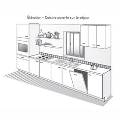 cool Idée relooking cuisine - Plan de cuisine linéaire