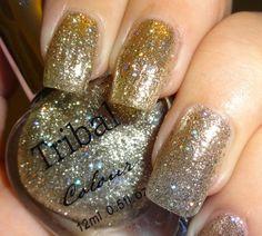Born Pretty Store - Tribal Gold Glitter Nail Polish