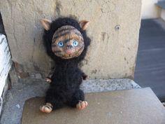 OOAK-CREATURE-CAT-seweet-Monster-doll-Fairy-Polymer-Clay-Artist-Handmade-doll