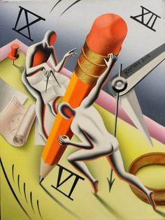 Mark Kostabi, Marking Time #gallartcom Mark Kostabi, Meditation Images, Modern Art, Contemporary Art, Beauty Art, Surreal Art, Figure Painting, Cool Artwork, Painting Inspiration