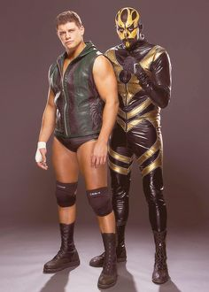 Cody Rhodes & Goldust from a Photoshoot.