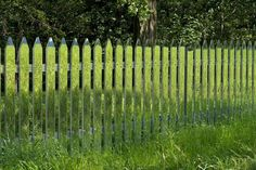 A Fence of Mirrors Reflects the Changing Landscape