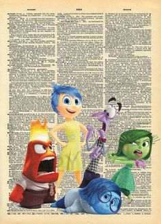 Inside Out Dictionary Art Print by AmourPrints on Etsy