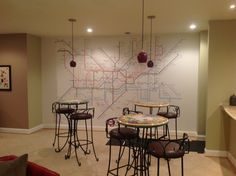 Subway lines mural for a customer create custom murals with subway map wall mural custom wall murals from limitlesswalls sciox Choice Image