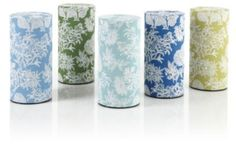 Flora Tea Tins covered in washi paper filled with my signature blend, Enjoy Life and Spice of Life, a unique gift to all my guests to take home. Just a thank you that will keep them remembering our time together every sip.