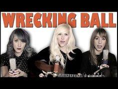 Wrecking Ball - Sarah Blackwood, Jenni and Emily (cover) - YouTube