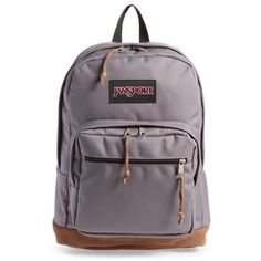 Women's Jansport Right Pack Backpack (804.660 IDR) ❤ liked on Polyvore featuring bags, backpacks, grey horizon, rucksack bags, backpack bags, gray suede bag, daypack bag and jansport rucksack