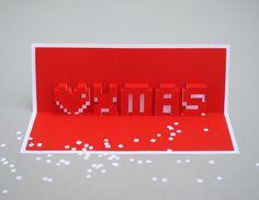 Pixel carte de Noël de Papercut