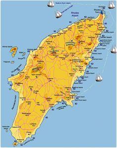 Mappa Rodi - Cartina Rodi