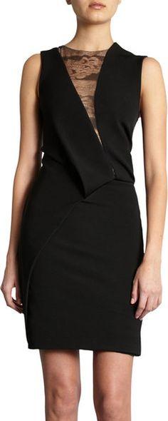 Asymmetric Pleat Dress