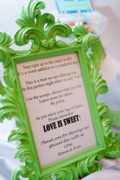 average cost of candy buffet | Candy Buffet Sign