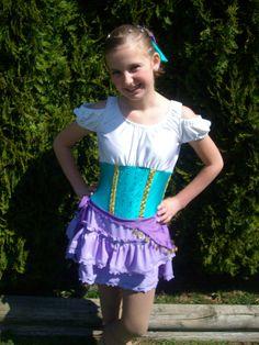 Disney Inspired - Esmeralda Gypsy Figure Skating Dress from Hunchback of Notre Dame. $125.00, via Etsy.