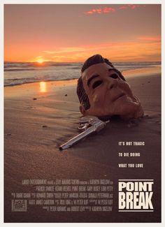 Point Break 1991 700 x 965 MoviePosterPorn Best Movie Posters, Cinema Posters, Movie Poster Art, Movies And Series, Cult Movies, Great Films, Good Movies, Point Break 1991, Point Break Movie