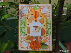 Cards ,Crafts ,Kids Projects: Fall Leaves and Coffee Card