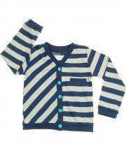 Katvig navy and grey stripe cardigan