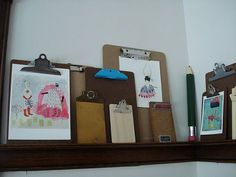 Clip Boards for Hanging Artwork - The Bear's room?