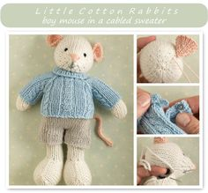 Little Cotton Rabbits Patterns for knitted animals!