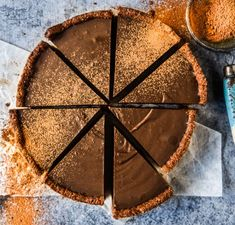 Healthy Chocolate Tart with Thermomix Instructions - Wholefood Simply Paleo Dessert, Raw Dessert Recipes, Thermomix Desserts, Raw Desserts, Sugar Free Desserts, Raw Food Recipes, Sweet Recipes, Healthy Desserts, Healthy Treats