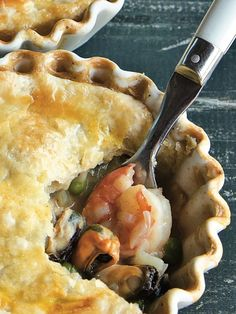Old Bay Seafood Pot Pie - Seafood Recipes Fish Recipes, Seafood Recipes, Great Recipes, Cooking Recipes, Favorite Recipes, Seafood Pie Recipe, Seafood Casserole Recipes, Recipies, Seafood Meals