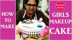How to make beautiful makeup and Cosmetics cake design:birthday cake decorating for girls Simple Birthday Cake Designs, Birthday Cake For Women Simple, Cake Designs For Girl, Simple Cake Designs, 16th Birthday Cake For Girls, Happy Birthday Cakes, Girl Birthday, 30th Birthday, Cake Decorating Classes