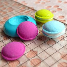 Macaron Mold 14mm Silicone Flexible Mold Decoden Kawaii Miniature Mold Sweets Fimo Polymer Clay Mold Food Jewelry Cabochon Charms Push Mold. $3.95, via Etsy.