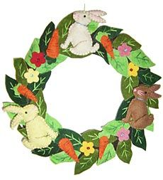 Felt Easter wreath