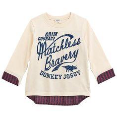 Donkey Jossy バック布帛配色違い天竺Tシャツのオフホワイト80cm(35.5・30.5・26)の通販なら赤すぐ