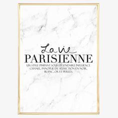 Digitaldruck - Poster, Kunstdruck, Spruch: La vie parisienne - ein Designerstück…