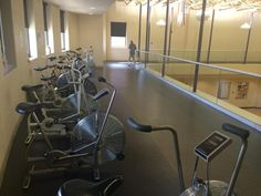 The walking track and stationary bikes are free to OPC members.