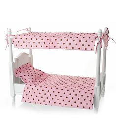 Look at this Peach Canopy Doll Bed on #zulily today!