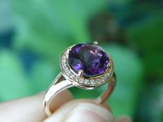 #Amethyst #Ring #Rosegold #Liverpool #gemstone #gems #Diana Jewelers
