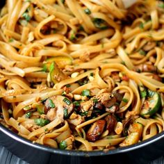 These noodles are SO good and so easy to cook up. Simple ingredients - #Vegetarian recipe but options for added protein too!