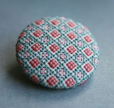 Button - but with embroidered flower