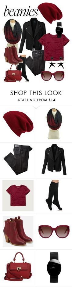 """""""Beanie For A Bad Hair Day"""" by clschmauder ❤ liked on Polyvore featuring Halogen, BRAX, LE3NO, Abercrombie & Fitch, Ralph Lauren, JustFab, Yves Saint Laurent, Salvatore Ferragamo, Rado and Marni"""