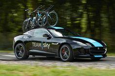 Arden Jaguar F-Type R Coupe | 2015 Jaguar F Type Coupe R For Sky Team Front Right Side Action Shot