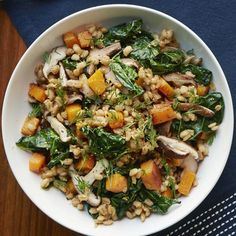 10 Slimming Scandinavian Recipes: Warm Kale-and-Barley Salad with Dill http://www.prevention.com/food/healthy-recipes/nordic-diet-recipes?s=7&cid=NL_ROTD_2012364_02102015_CodFishChowderYouWantIt