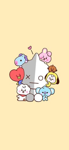 BROWN PIC is where you can find all the character GIFs, pics and free wallpapers of LINE friends. Come and meet Brown, Cony, Choco, Sally and other friends! Haikyuu Chibi, Naruto Chibi, Chibi Manga, Chibi Bts, Chibi Wallpaper, Lines Wallpaper, Baby Wallpaper, Wallpaper Backgrounds, Iphone Wallpaper